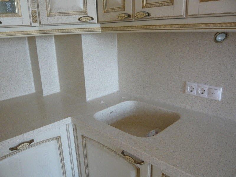 Мойка для кухни из камня белая