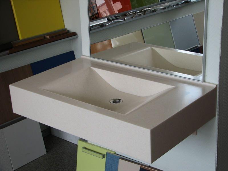Мойка для кухни из искусственного камня прямоугольная